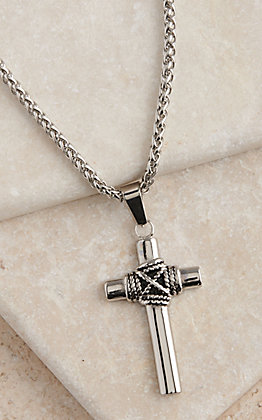 Montana Silversmiths Rope Wrapped Cross Necklace