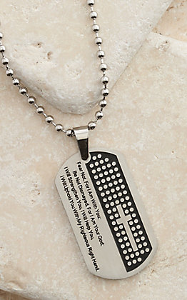 Montana Silversmiths A Cowboy's Strength Prayer Necklace