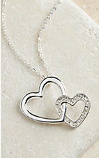 Montana Silversmiths Silver Double Heart Necklace