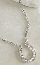 Montana Silversmiths Clear Rhinestone Horseshoe Necklace