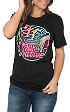 Crazy Train Women's Neon Native T-Shirt