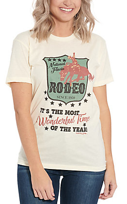 Ranch Swag Women's White National Finals Rodeo Graphic T-Shirt