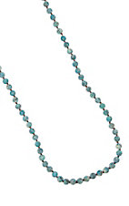 Frosted Turquoise Medium Beads Layering Necklace