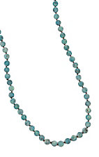 Frosted Turquoise Large Beads Layering Necklace
