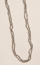 Wired Fence Sparkle Natural 90 in. Necklace
