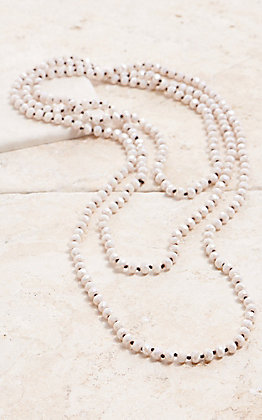 Wired Heart Sparkle Ivory 90 in. Necklace