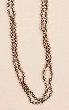 Wired Heart Sparkle Natural 60 in. Necklace