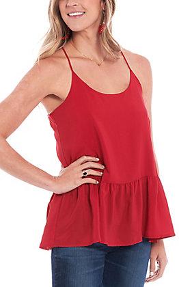 Newbury Kustom Women's Solid Crimson Tank Top