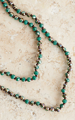 Turquoise Sparkle Beaded Layering Necklace
