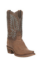 Nocona Women's Tobacco with Brown Snip Toe HERO Western Boots