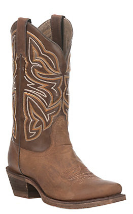 Nocona Women's HERO Tan and Brown Punchy Toe Western Boots