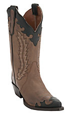 Nocona Women's Distressed Maple Brown w/Dark Wingtip Snip Toe Western Boots