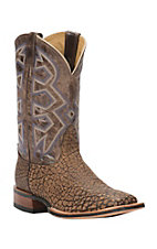 Nocona Let's Rodeo Collection Men's Chocolate Dakota with Oryx Top Double Welt Square Toe Western Boots