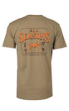 Back Down South Safari Brown Short Sleeve Pocket Tee