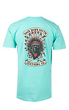 Back Down South Mint with Chief Logo Short Sleeve Tee NPCHIEFMI