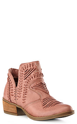 Not Rated Nosara Women's Blush Faux Leather Booties