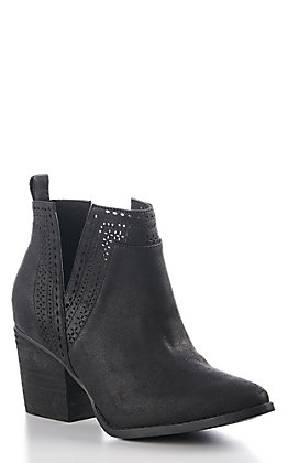 Not Rated Women's Black V-Cut Fashion Booties