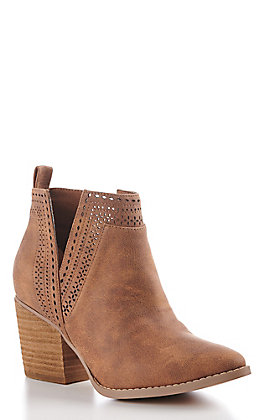 Not Rated Women's Camel V-Cut Fashion Booties