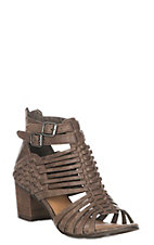 Not Rated Women's Taupe Ofanto Gladiator Sandals