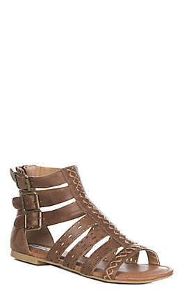 Not Rated Women's Tan Gladiator Sandal