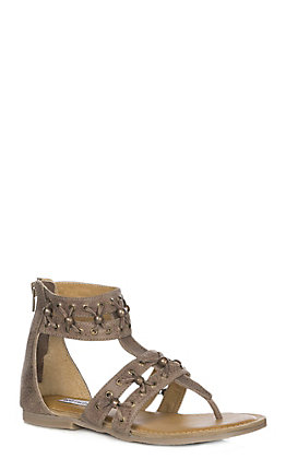 Not Rated Women's Taupe With Bead Accents Gladiator Sandal