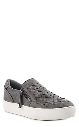 Not Rated Women's Charcoal Grey Woven Top Casual Shoes