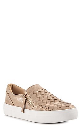 Not Rated Women's Gold Woven Top Casual Shoes
