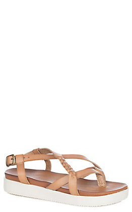 Not Rated Women's Sela Tan Multi Strap Sport Sandal