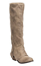 Not Rated Women's Bailey Burnished Taupe Tall Round Toe Fashion Boots