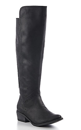 Not Rated Women's Black Tall Riding Boots