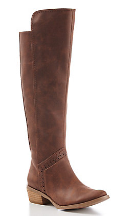 Not Rated Women's Tan Tall Riding Boots