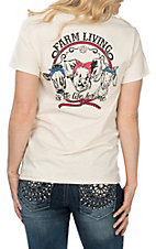 Lilly Paige Women's Natural Farm Living S/S T-Shirt