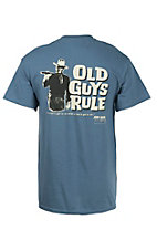 Old Guys Rule Blue John Wayne A Man's Got To Do What A Man's Got To Do Short Sleeve T-Shirt