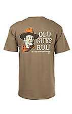 Old Guys Rule Prairie Dust John Wayne Life Is Tough, But It's Tougher If You're Stupid Short Sleeve T-Shirt