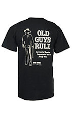 Old Guys Rule Black John Wayne Gun Control Short Sleeve T-Shirt