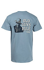 Old Guys Rule Blue John Wayne I Never Trust A Man Who Doesn't Drink Short Sleeve T-Shirt