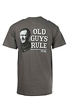 Old Guys Rule Charcoal John Wayne Don't Say Too Much Short Sleeve T-Shirt