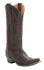 Old Gringo Women's Chocolate Nevada Fancy Stitch Snip Toe Western Boots