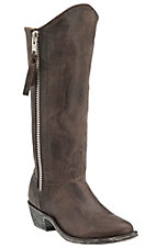 Old Gringo Women's Chocolate Maddog Razz Zipper Round Toe Western Fashion Boots