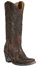 Old Gringo Women's The Greeks Brass with Chocolate Inlay Snip Toe Western Boots