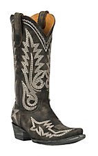 Old Gringo Women's Vintage Black Nevada Fancy Stitch Snip Toe Western Boots