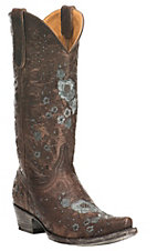 Old Gringo Women's Chocolate with Floral Pattern Western Snip Toe Boots