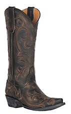 Old Gringo Women's Dolly Rustic Beige Western Heel Snip Toe Boot
