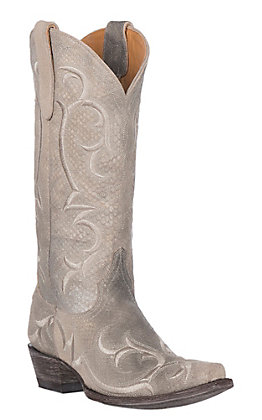 Old Gringo Women's Dolly Suede Bone Western Heel Snip Toe Boot