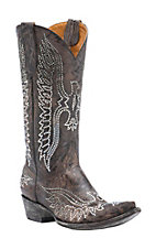 Old Gringo Women's Washed Brown w/ Swarovski Crystal Eagle Pointed Snip Toe Western Boots