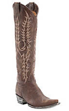 Old Gringo Women's Mayra Distressed Brass Tall Snip Toe Western Fashion Boots