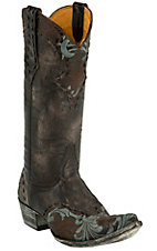 Old Gringo Ladies Erin Distressed Brown Embroidered Snip Toe Western Boot