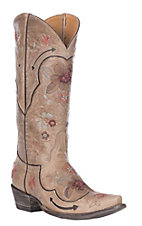 Old Gringo Women's Bonnie Pipin Bone with Multi-Colored Floral Embroidered Snip Toe