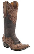 Old Gringo Women's Oryx Chocolate w/Wingtip & Collar Marrione Pointed Toe Western Boots