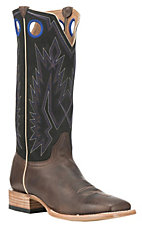 Old Gringo Men's Chocolate with Black Upper Cowhide Leather Western Square Toe Boots